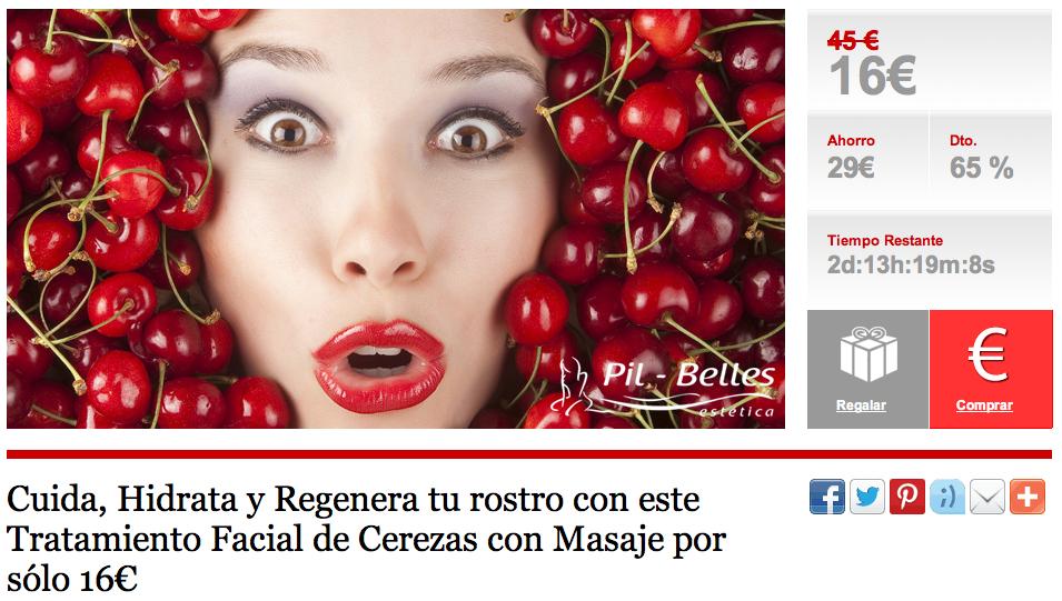 Tratamiento Facial de Cerezas