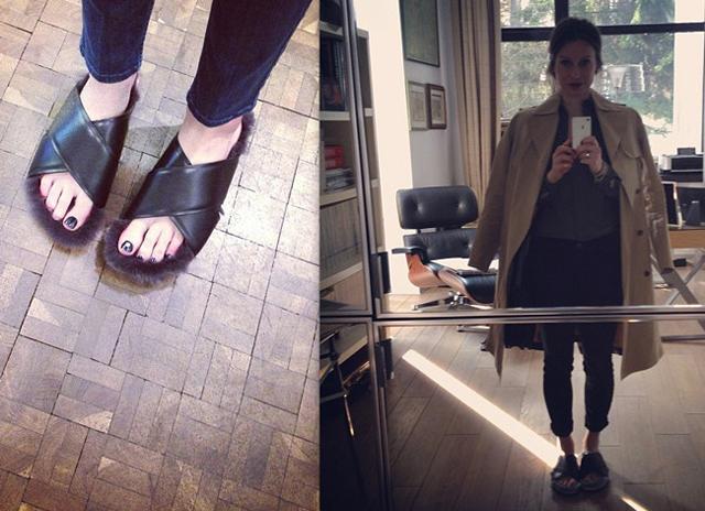 moda sandalia pelo