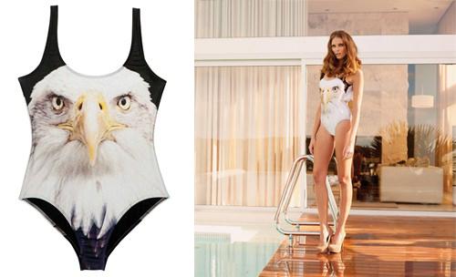 bañadores y bikinis graficos moda de verano 2013