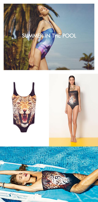 Moda verano 2013 bikini y bañador gráfico